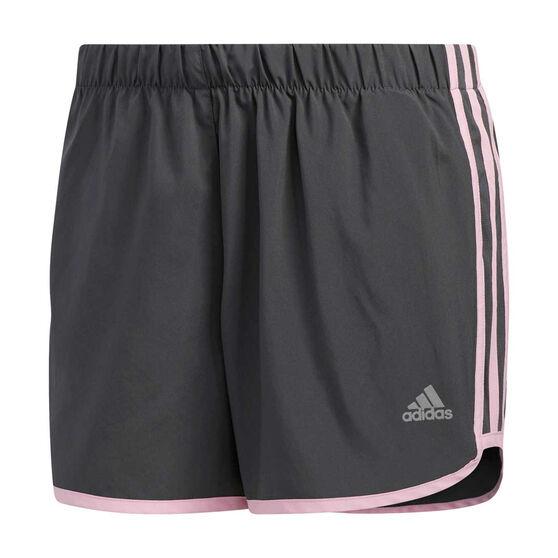 adidas Womens Marathon 20 Running Shorts, Grey, rebel_hi-res