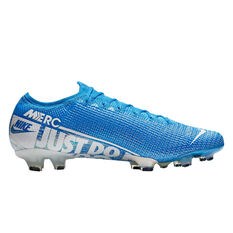 Nike Mercurial Vapor XIII Elite Football Boots Blue / White US Mens 7 / Womens 8.5, Blue / White, rebel_hi-res