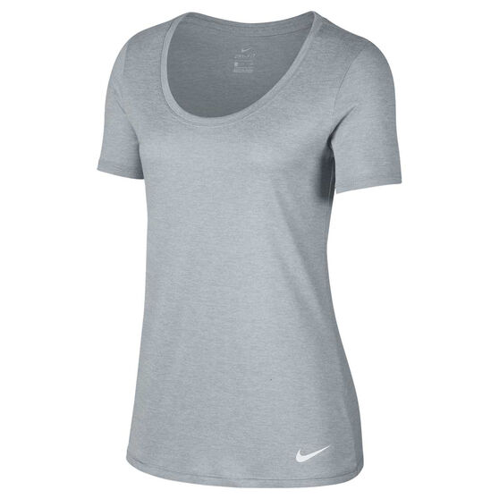 Nike Womens Dry Training Tee, Grey, rebel_hi-res