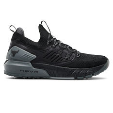 Under Armour Project Rock 3 Mens Training Shoes Black/Grey US 7, Black/Grey, rebel_hi-res
