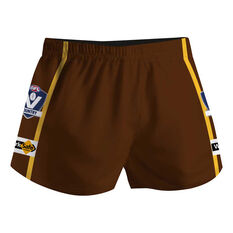 Cougar Sportswear V.C.F.L Training Shorts Brown 30in, Brown, rebel_hi-res
