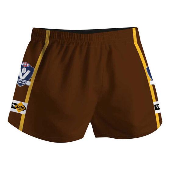 Cougar Sportswear V.C.F.L Training Shorts, Brown, rebel_hi-res