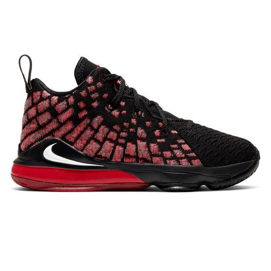 Nike LeBron XVII Kids Basketball Shoes, , rebel_hi-res