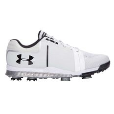 Under Armour Tempo Sport Mens Golf Shoes White / Black US 7, White / Black, rebel_hi-res