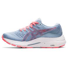 Asics GEL Kayano 28 Kids Running Shoes Blue/White US 1, Blue/White, rebel_hi-res