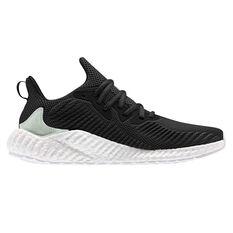 adidas Alphaboost Parley Mens Running Shoes Black / Green US 7, Black / Green, rebel_hi-res