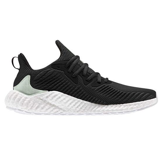 adidas Alphaboost Parley Mens Running Shoes, Black / Green, rebel_hi-res