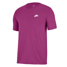 Nike Mens Sportswear Club Tee Purple XS, Purple, rebel_hi-res