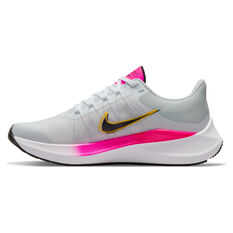 Nike Winflo 8 Womens Running Shoes White/Black US 6, White/Black, rebel_hi-res