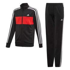 adidas Boys Tiberio Tracksuit Black / Red 8, Black / Red, rebel_hi-res