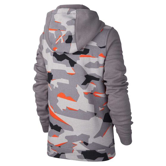 4b4bfd5b Nike Boys Full-Zip Camo Hoodie Grey / White L