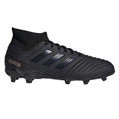 adidas Predator 19.3 Kids Football Boots Black / Gold US 11, Black / Gold, rebel_hi-res