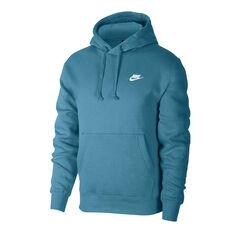 Nike Sportswear Mens Club Fleece Hoodie Blue XS, Blue, rebel_hi-res