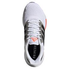 adidas EQ21 Mens Running Shoes, White/Black, rebel_hi-res