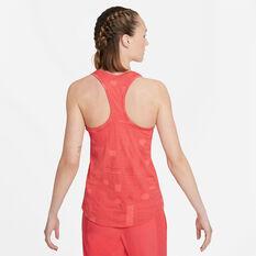Nike Air Womens Dri-FIT Running Tank Red XS, Red, rebel_hi-res