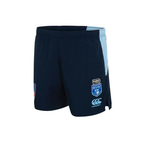 NSW State of Origin  Mens Gym Shorts, Blue, rebel_hi-res