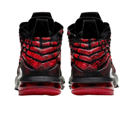 Nike LeBron XVII Kids Basketball Shoes, Black / Red, rebel_hi-res