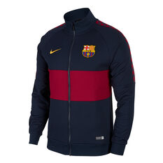 FC Barcelona 2019 Mens 196 Icon Jacket Navy / Red XS, Navy / Red, rebel_hi-res