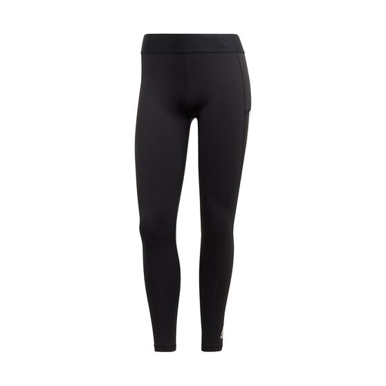 adidas Womens Alphaskin 3 Stripes 7/8 Tights, Black, rebel_hi-res