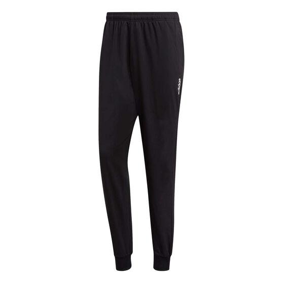 adidas Mens Essentials Plain Tapered Stanford Pants, Black, rebel_hi-res