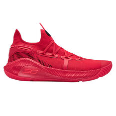 Under Armour Curry 6 Mens Basketball Shoes Red / Black US 7, Red / Black, rebel_hi-res
