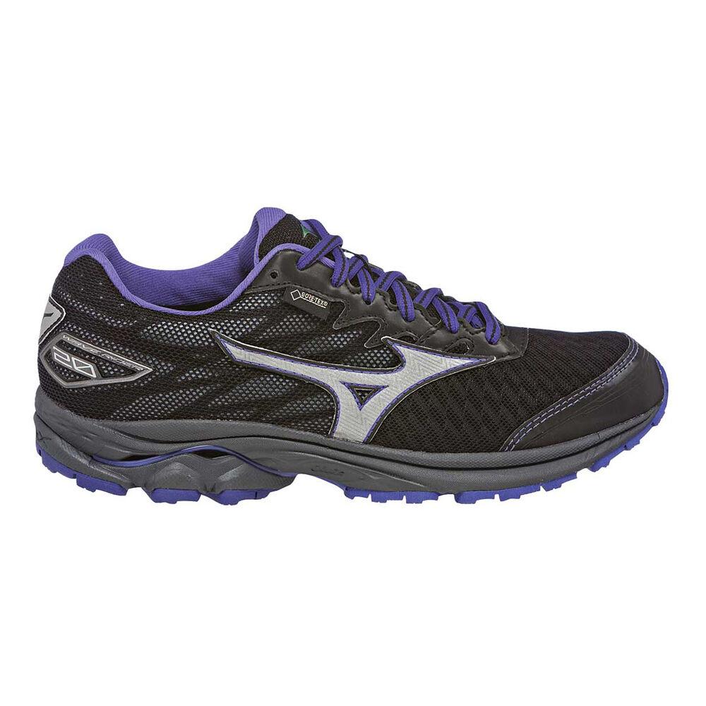 Mizuno Wave Rider 20GTX Womens Trail Running Shoes Black   Purple US ... 0c3d129b8