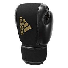 adidas Washable Boxing Gloves Black / Gold S / M, Black / Gold, rebel_hi-res