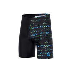 Zoggs Mens Jupiter Mid Jammer Swim Shorts Black / Multi 12, Black / Multi, rebel_hi-res