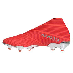 adidas Nemeziz 19+ Football Boots Red / Silver US Mens 7 / Womens 8, Red / Silver, rebel_hi-res
