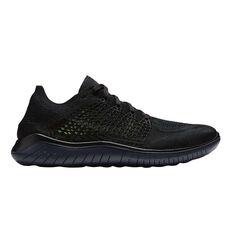 Nike Free Run Flyknit 2018 Mens Running Shoes Black US 7, Black, rebel_hi-res
