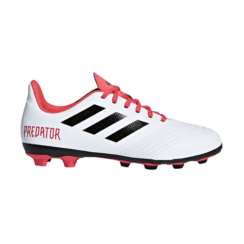 358a60da23d3 adidas Predator 18.4 FXG Junior Football Boots White / Black US 11 Junior,  White /