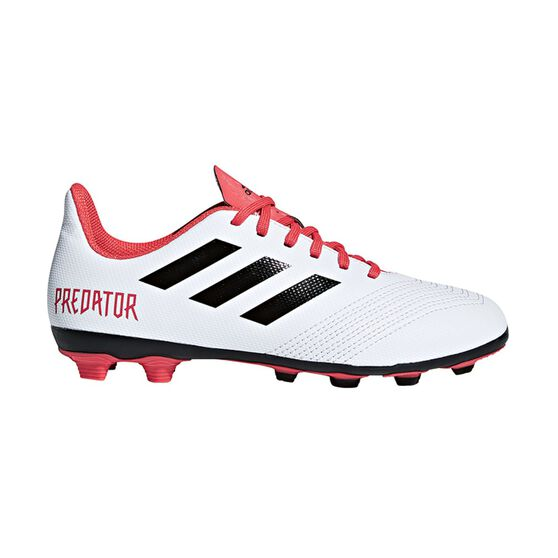 ec4537993477 adidas Predator 18.4 FXG Junior Football Boots White / Black US 13 Junior,  White /