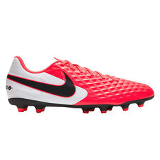 Nike Tiempo Legend VIII Club Football Boots Black / Red US Mens 4 / Womens 5.5, Black / Red, rebel_hi-res
