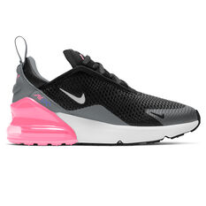 Nike Air Max 270 Kids Casual Shoes Black/Pink US 11, Black/Pink, rebel_hi-res