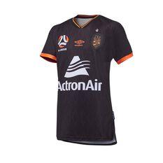 Brisbane Roar FC 2020/21 Junior 3rd Jersey Black 8, Black, rebel_hi-res