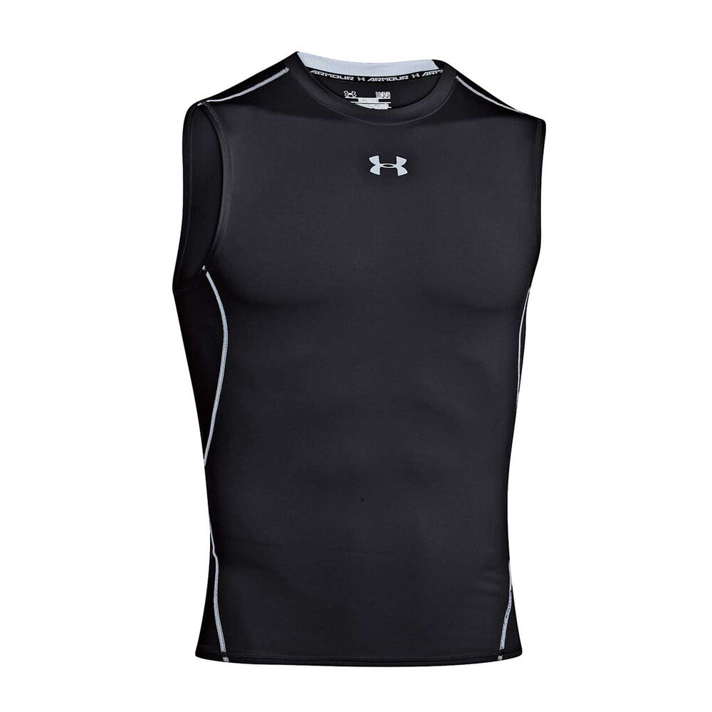 8686a4b8224d7b Under Armour Mens HeatGear Armour Sleeveless Compression Top Black S Adult