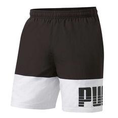 Puma Mens Rebel Bold Woven Shorts Black S, Black, rebel_hi-res