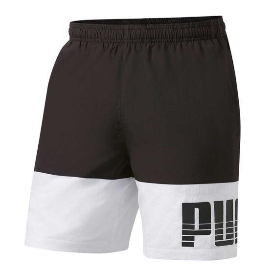 Puma Mens Rebel Bold Woven Shorts Black M, Black, rebel_hi-res