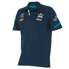 North Queensland Cowboys Mens 2018 Polo Shirt Navy S, Navy, rebel_hi-res
