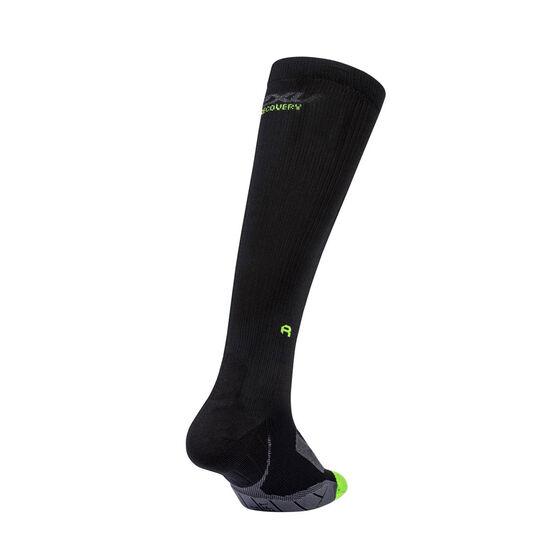 2XU Mens Recovery Compression Socks, Black, rebel_hi-res