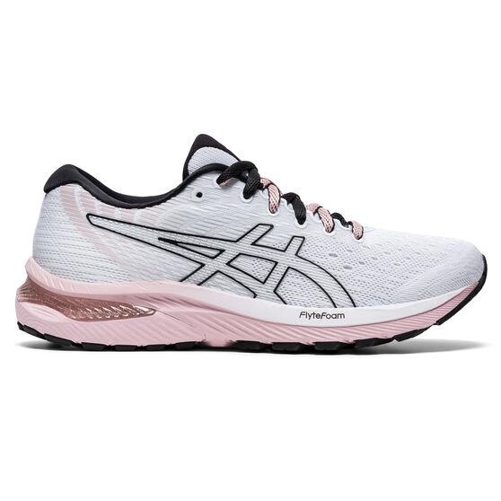 Asics GEL Cumulus 22 Womens Running Shoes, White/Pink, rebel_hi-res