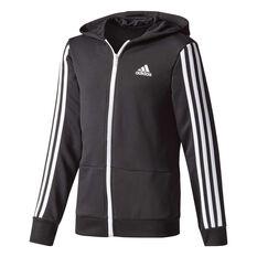 adidas Boys Gear Up Training Full Zip Hoodie Black / White 6 Junior, Black / White, rebel_hi-res