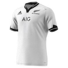 All Blacks 2021 Mens Away Jersey White S, White, rebel_hi-res