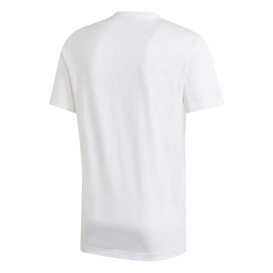 adidas Mens Essentials Plain Tee, White, rebel_hi-res