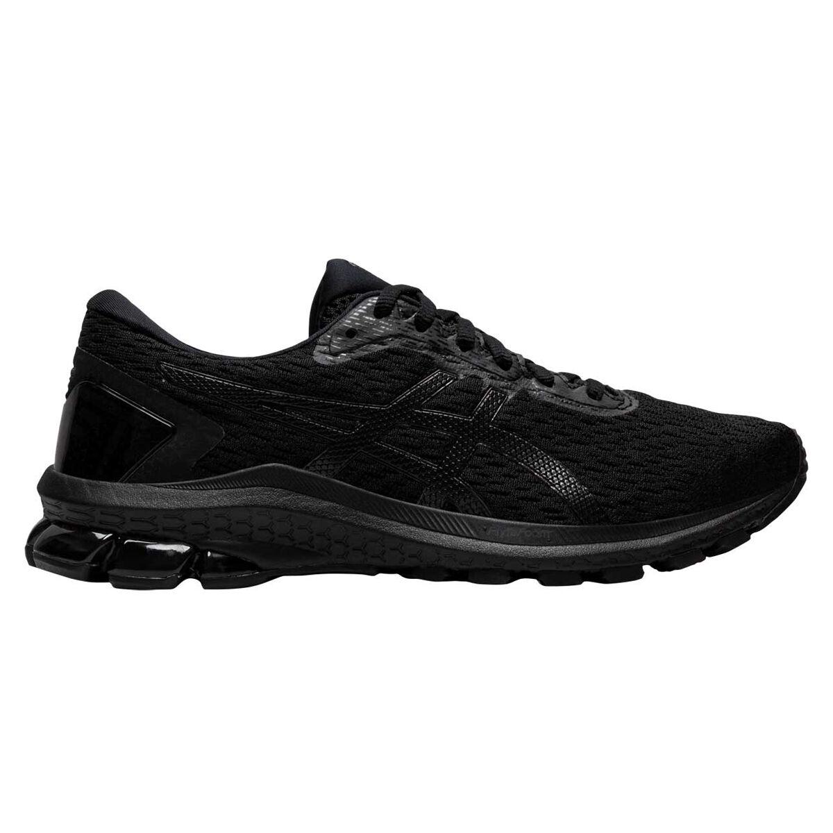 ladies black asics running shoes