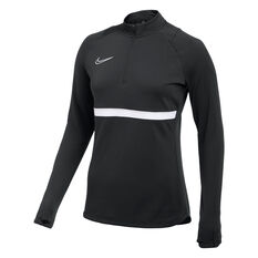 Nike Womens  Dri-FIT Academy 21 Soccer Drill Top Black XS, Black, rebel_hi-res