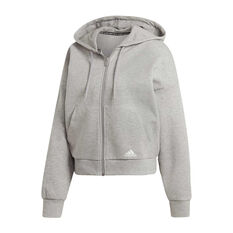 adidas Womens Must Haves Double Knit Hoodie Grey XS, Grey, rebel_hi-res