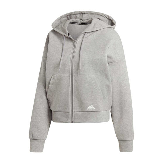 adidas Womens Must Haves Double Knit Hoodie, Grey, rebel_hi-res