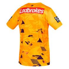 Brisbane Broncos 2021 Mens Training Tee Yellow S, Yellow, rebel_hi-res