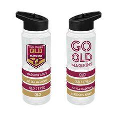 QLD Maroons State of Origin 2019  Tritan Water Bottle with Bracelets, , rebel_hi-res